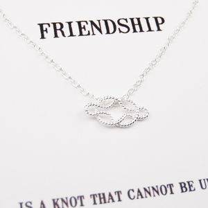 'Friendship Knot' Silver Necklace