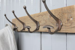 Limited Edition Reclaimed Bowler Hat And Coat Hook - storage