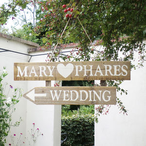 Personalised Hand Painted Wedding Signs