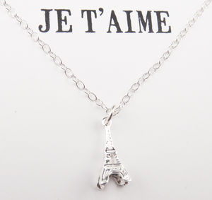 Sterling Silver Necklace Je T'Aime