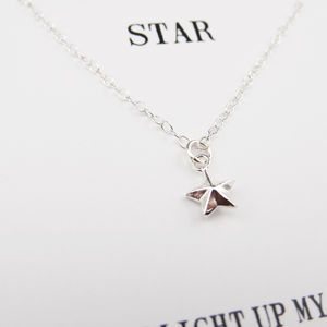 'Light Up My Life' Silver Star Necklace