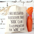 'Book Club Wine Club' Tote Bag