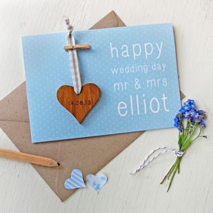 Personalised Wedding Keepsake Heart Card - wedding cards