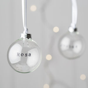 Personalised Glass Christmas Bauble - view all decorations