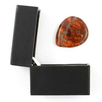 Poppy Jasper Guitar Pick / Plectrum In A Gift Box
