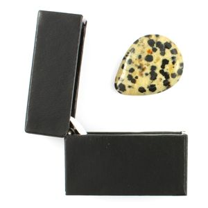 Dalmation Jasper Guitar Plectrum In A Gift Box