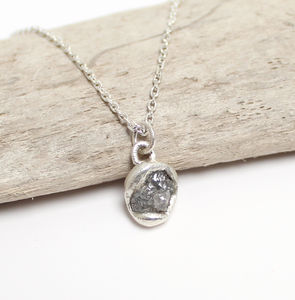 Rough Diamond Pendant Necklace