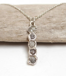Rough Diamond Bar Pendant Necklace - diamond necklaces