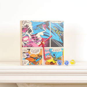 Superhero Comic Clock Square - gifts for geeks