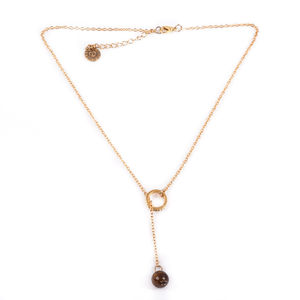 Tiger Eye Lariat Necklace - necklaces & pendants
