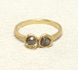Rough And Faceted Diamond Ring - less ordinary diamonds