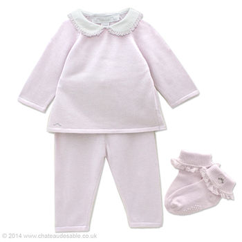 Baby Girl Cashmere Two Piece And Lace Socks