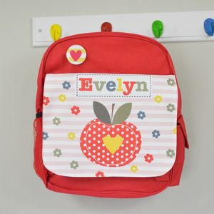Girls Personalised Apple Mini Rucksack - bags, purses & wallets