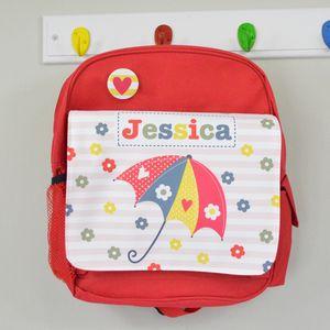 Girls Personalised Umbrella Mini Rucksack