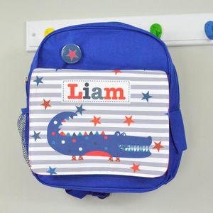 Boys Personalised Crocodile Mini Rucksack - bags, purses & wallets