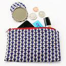 Liberty 'Jonathan' Blue Purse And Mirror Set