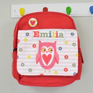Girl's Personalised Owl Mini Rucksack - personalised