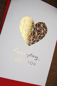 'Everyday I Love You' Gold Foil Card