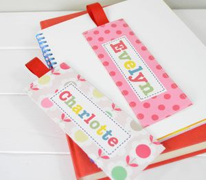 Girls Personalised Fabric Bookmarks - office & study