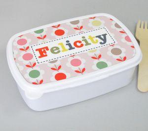 Girls Personalised Pattern Lunchbox - personalised