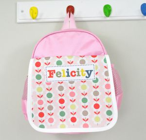 Girls Personalised Pattern Lunch Bag - lunch boxes & bags