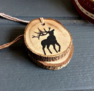Forest Stag Wooden Gift Tag And Tree Ornament - view all sale items