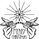 Personalised 'Angels' Christmas Stamp