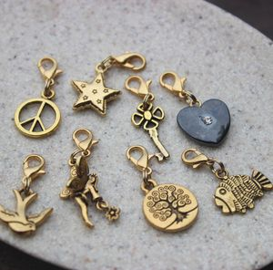 Golden Charms - bag charms
