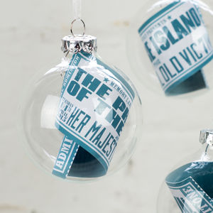 Personalised Event Ticket Bauble
