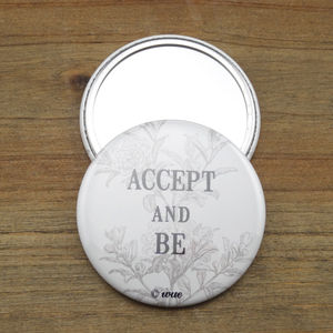 'Accept And Be' Pocket Mirror