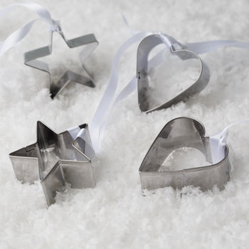 Heart And Star Cookie Cutter Christmas Decoration Set