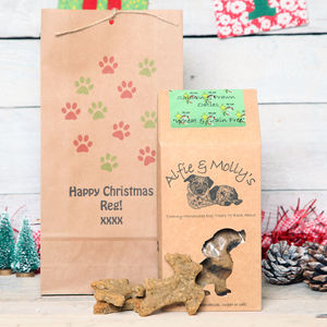 Dog Treats In A Personalised Gift Bag