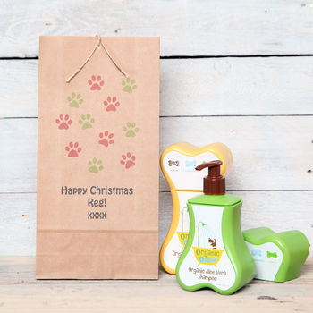 Personalised Gift Bag And Dog Shampoo