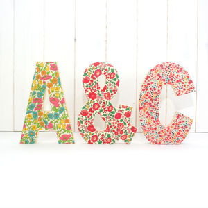 Liberty Print Wooden Letters - decorative letters