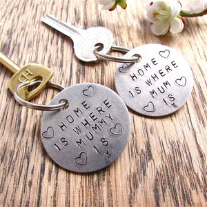 'Home Is Where Mum Is' Keyring - mother's day gifts