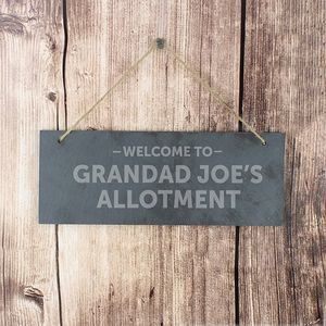 Personalised 'Welcome To…' Slate Door Plaque