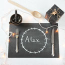 Christmas Dinner Chalkboard Placemat Sheets