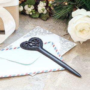 Cast Iron Heart Letter Opener