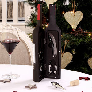 Large Bottle Wine Accessories Gift Set - corkscrews & bottle openers