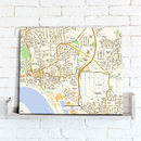 Postcode Centred Street Map Canvas