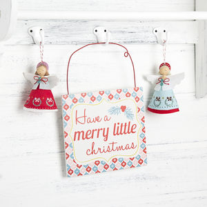 Retro Christmas Sign - decorative accessories