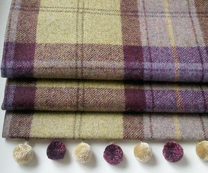 Blackberry Tweed Roman Blind - blinds