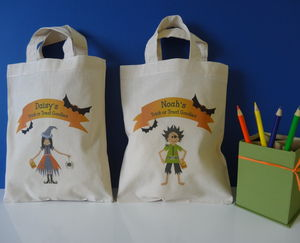 Halloween Trick Or Treat Cotton Bag - bags, purses & wallets