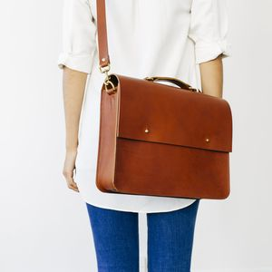 Laura Leather Satchel - satchels