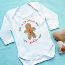 Personalised 1st Christmas Gingerbread Babygrow