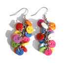 Button Charm Earrings