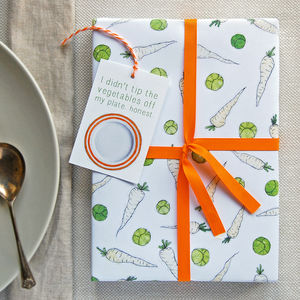 Sprouts And Parsnips Wrapping Paper Set - wrapping