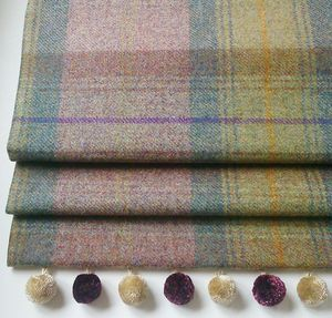 Heather Tweed Roman Blind - living room