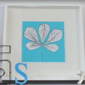 Horse Chestnut Leaf Screen Print
