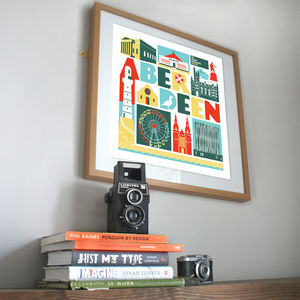 Aberdeen Scotland City Print